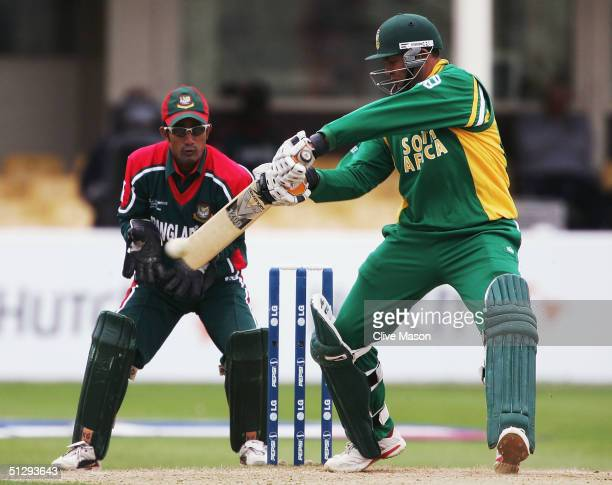 Jacques Kallis of South Africa in action during the ICC Champions Trophy match between South Africa and Bangladesh at the Edgbaston Cricket Ground on...