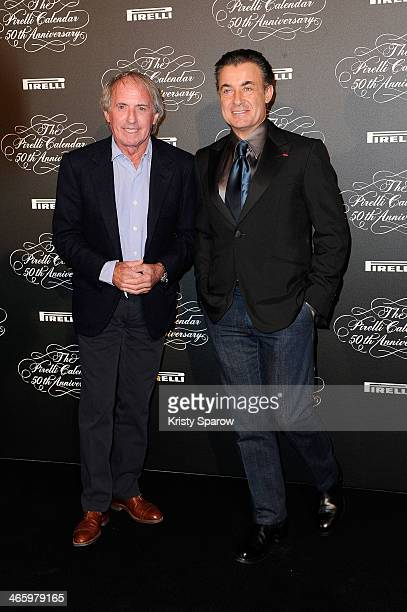 Jacques Laffite and Jean Alesi attend the 'Pirelli 50th Anniversary Party' at Palais De Tokyo on January 30 2014 in Paris France