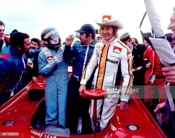 Jacques Laffite Willi Kauhsen and Arturo Merzario are winners at the Dijon 1000kms 1975