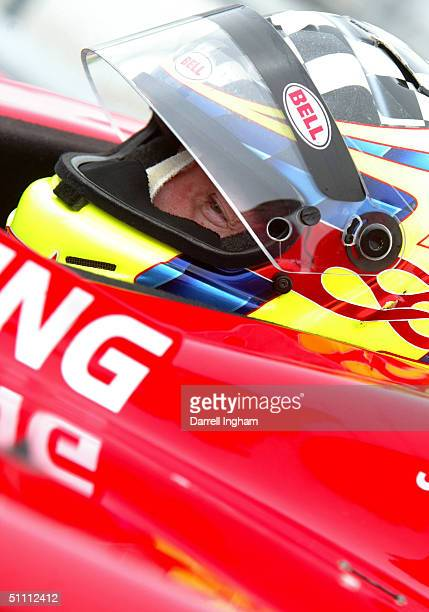 Jacques Lazier aboard the Patrick Racing Chevrolet Dallara during practice for the Indy Racing League IndyCar Series Menards AJ Foyt Indy 225 on July...