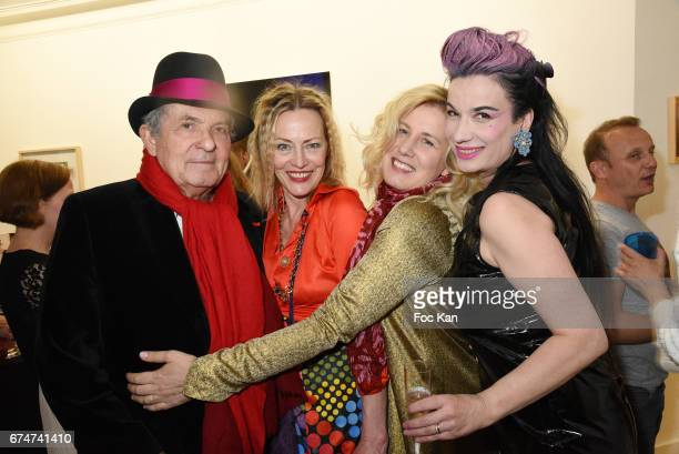 Jacques Leibowitch Gabrielle Lazure Christine BergstromÊLeibowitch and Gaelle Girre attend Gabrielle Lazure 'Sixteen' Birthday Party at Galerie 18...