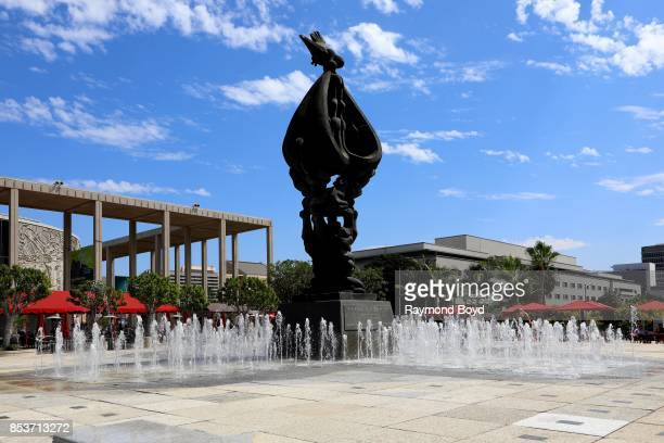 Jacques Lipchitz' 'Peace On Earth' sculpture sits inside the Los Angeles Music Center plaza in Los Angeles California on September 10 2017 MANDATORY...
