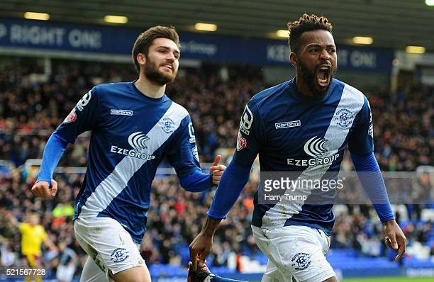Jacques Maghoma of Birmingham City celebrates after scoring his sides first goal during the Sky Bet Championship match between Birmingham City and...