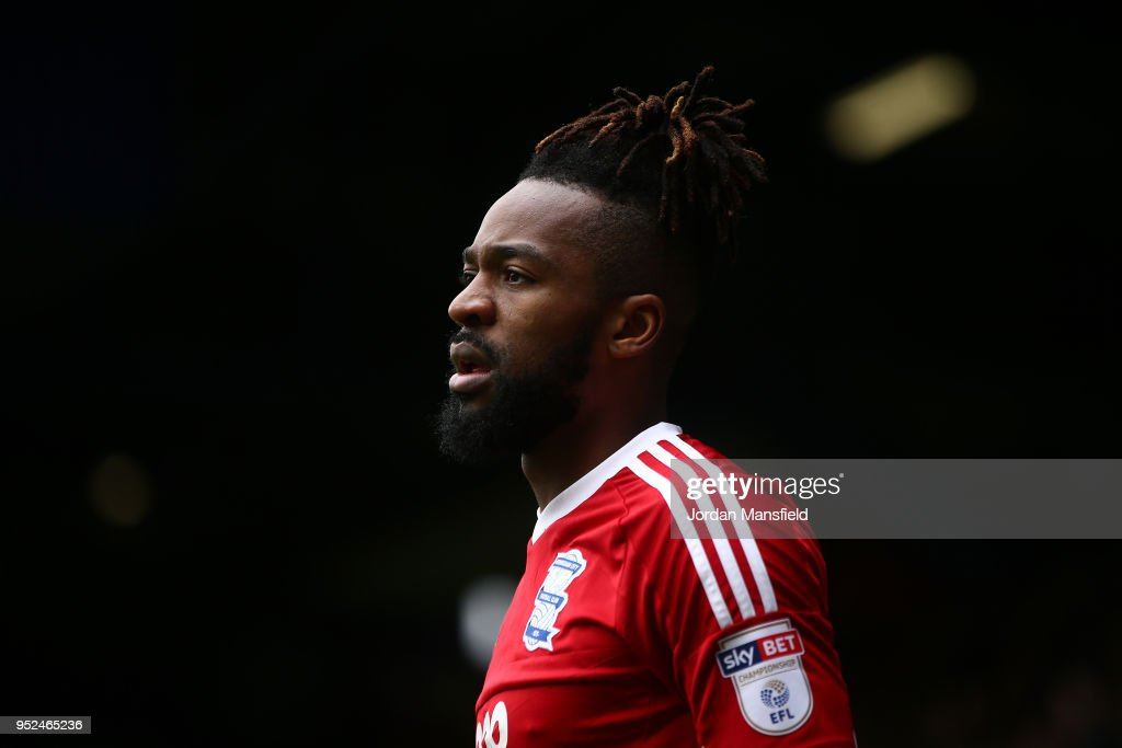 Jacques Maghoma of Birmingham during the Sky Bet Championship match between Queens Park Rangers and Birmingham City at Loftus Road on April 28, 2018 in London, England.