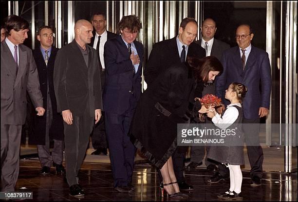 Jacques Maillot Ernst August Caroline Albert in Monaco on December 15 2000