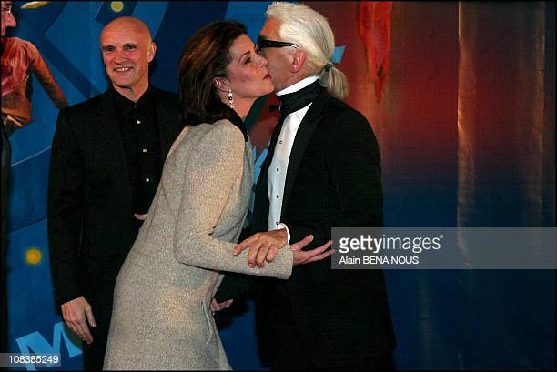 Jacques Maillot Princess Caroline and Karl Lagerfeld in Monaco on December 14 2002