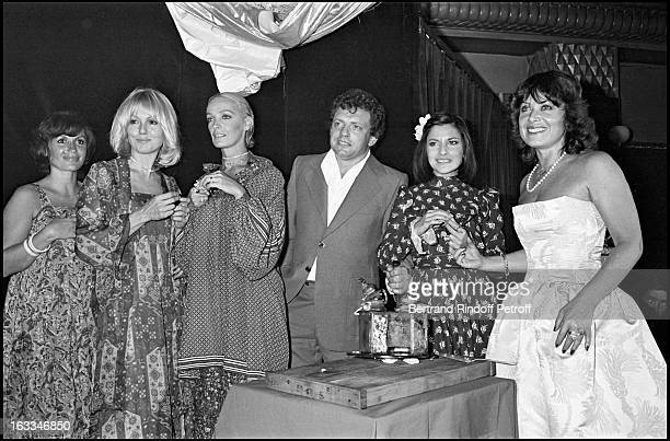 Jacques Martin, Daniele Evenou, Mylene Demongeot, Marie Laforet and Nicole Calfan at An Evening At Mikado.