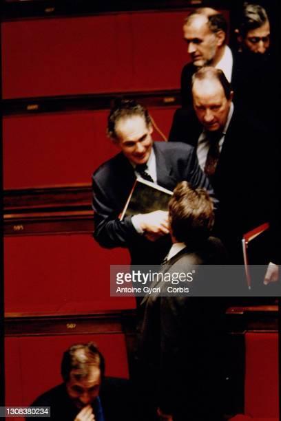 Jacques Mellick et Bernard Tapie.