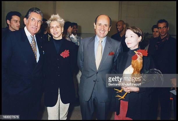 Jacques Mouclier Jean Louis Dumas Helene David Weil at theLaunch Of Mens' Fashion Week 1997 At Musee De La Mode In Paris
