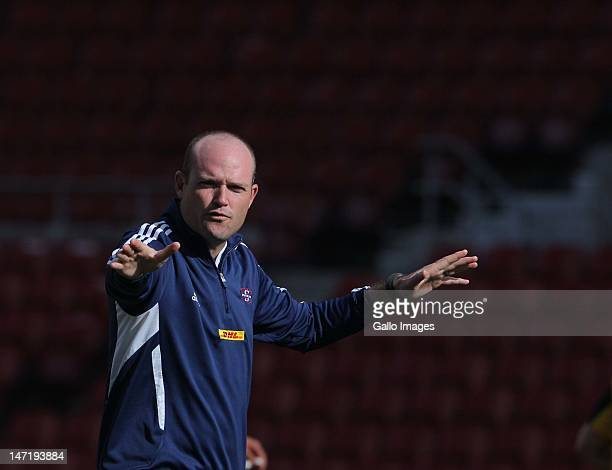 Jacques Nienaber during the DHL Stormers training session at DHL Newlands on June 27 2012 in Cape Town South Africa