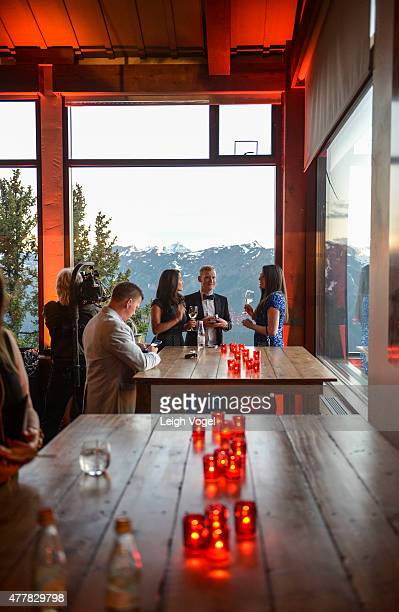 Jacques Pepin's 80th Birthday is celebrated at the Sundeck on Aspen Mountain during The Aspen Wine Food Classic on June 19 2015 in Aspen Colorado