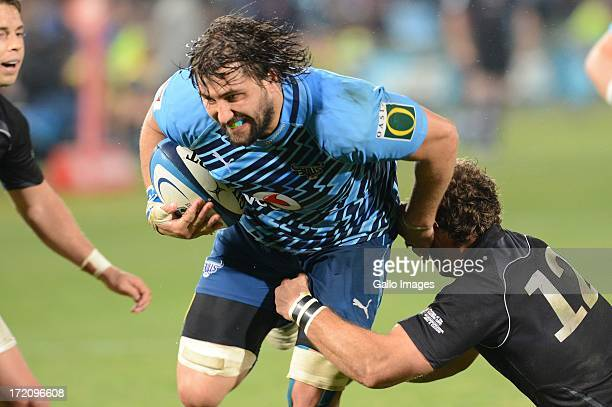 Jacques Potgieter of the Bulls during the Super Rugby match between Vodacom Bulls and Southern Kings from Loftus Versfeld on June 29 2013 in Pretoria...