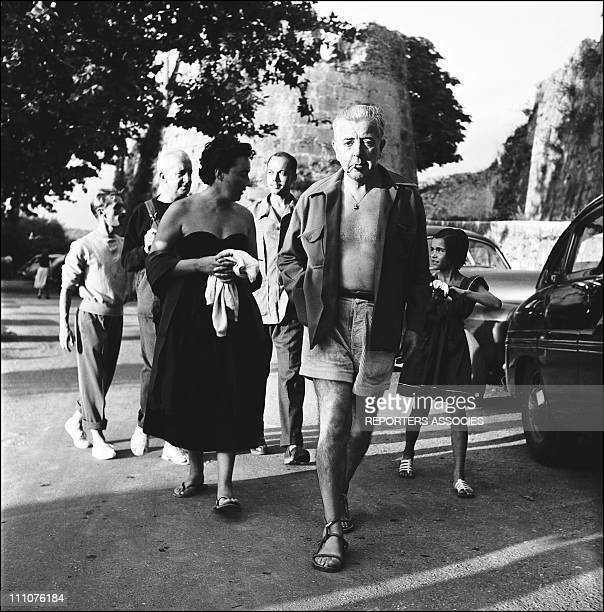 Jacques Prevert in the 50's in France in 1950
