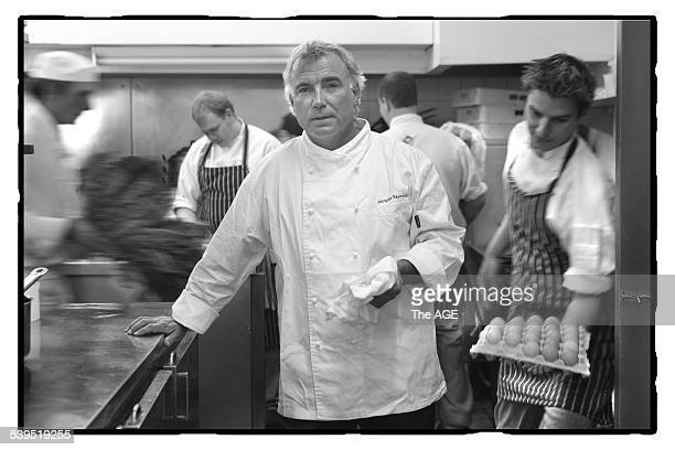Jacques Reymond restauranteur, in his kitchen. Taken 24 November 2004. THE AGE EPICURE Picture by SIMON SCHLUTER