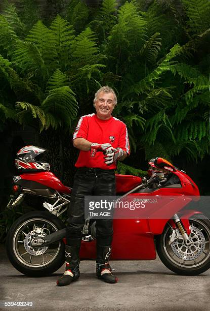 Jacques Reymond restauranteur, with his beloved Ducati. Taken 24 November 2004. THE AGE EPICURE Picture by SIMON SCHLUTER