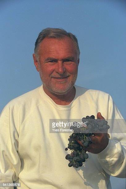 Jacques Ribourel in his vineyard the Hospitalet wine growing estate