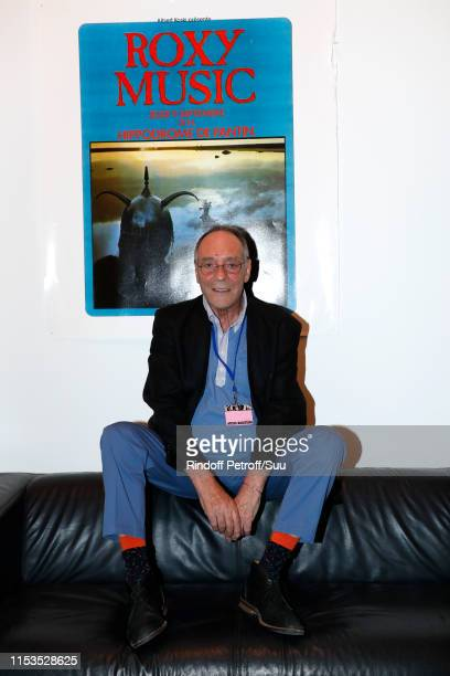 Jacques Rouveyrollis attends Albert Koski exposes its Rock&Roll Posters Collection at Galerie Laurent Godin on June 03, 2019 in Paris, France.