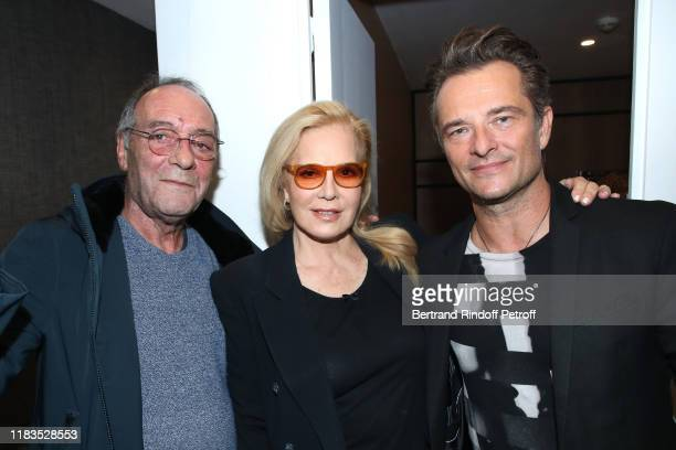 "Jacques Rouveyrollis, Sylvie Vartan and her son David Hallyday pose after the the Sylvie Vartan Concert ""Avec toi.. La Rock'n Roll Attitude"" at Le..."