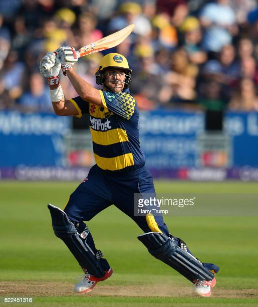 Jacques Rudolph of Glamorgan bats during the NatWest T20 Blast match between Gloucestershire and Glamorgan at the Brightside Ground on July 25 2017...