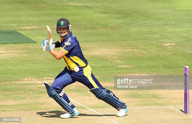 Jacques Rudolph of Glamorgan batting during the Royal London One Day Cup match between Middlesex and Glamorgan at Lords Cricket Ground on August 17...