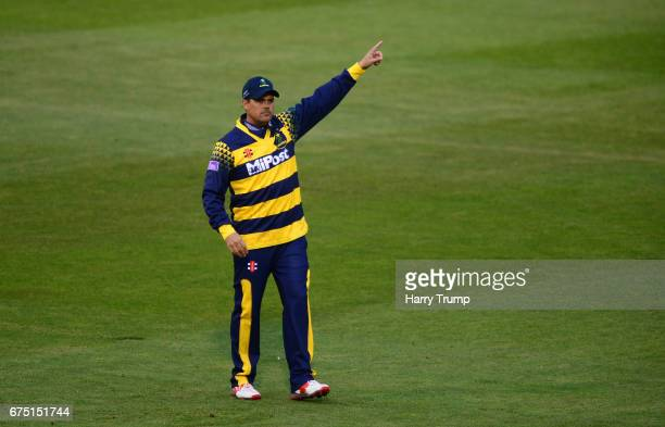 Jacques Rudolph of Glamorgan gives order during the Royal London OneDay Cup match between Glamorgan and Surrey at the Swalec Stadium on April 30 2017...