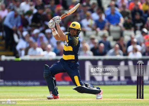 Jacques Rudolph of Glamorgan in action during the NatWest T20 Blast SemiFinal match between Birmingham Bears and Glamorgan at Edgbaston on September...