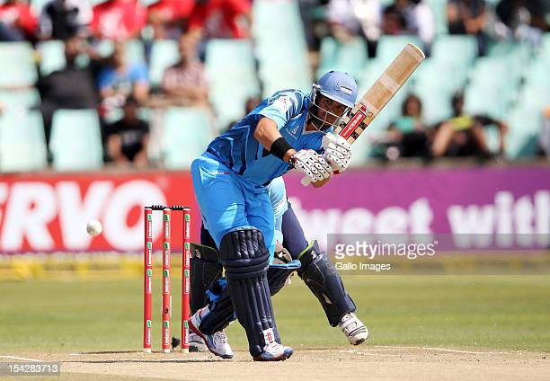 Jacques Rudolph of Nashua Titans bats during the Karbonn Smart CLT20 match between Nashua Titans and Auckland Aces at Sahara Stadium Kingsmead on...