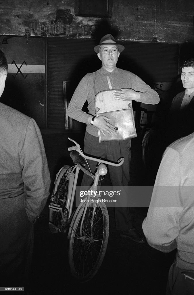 Jacques Tati (1907-1982), French actor and director, during the rehearsals of 'Jour de fête', Paris, Olympia, April 1961.