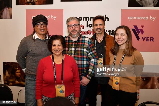 Jacques Thelemaque Shalini Dore Alonso Duralde Timothy Rhys and Lindsey Bahr speak onstage during the 2018 Mammoth Lakes Film Festival on May 25 2018...