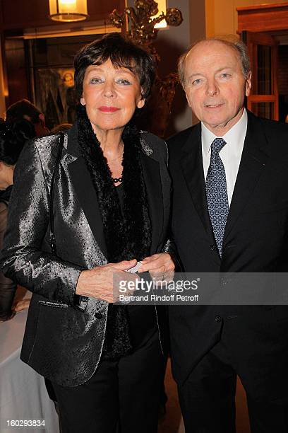 Jacques Toubon and his wife Lise attend a dinner in honor of Helene DavidWeill who presided through 1994 2012 Les Arts Decoratifs one of the largest...