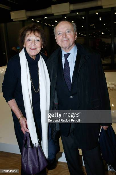 Jacques Toubon and his wife Lise attend the Cesar Retrospective at Centre Pompidou on December 11 2017 in Paris France
