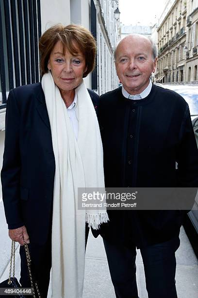 Jacques Toubon and his wife Lise attend the Marek Halter Celebrates Rosh Hashanah In Paris on September 20 2015 in Paris France