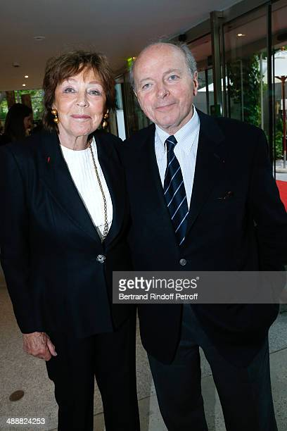 Jacques Toubon and his wife Lise Toubon attend the 'Fondation Cartier pour l'art contemporain' celebrates its 30th anniversary on May 8 2014 in Paris...