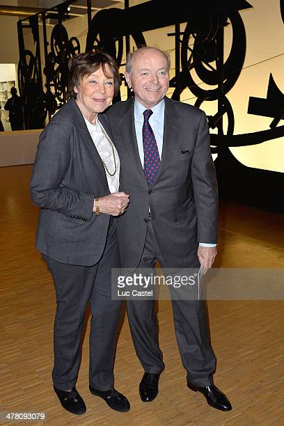 Jacques Toubon and his wife Lise Toubon attend the 'Societe des amis du Musee D'Art Moderne' Annual Dinner Held at Centre Pompidou on March 11 2014...