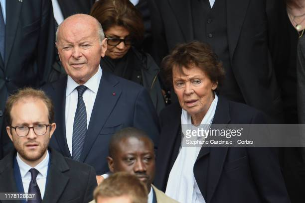Jacques Toubon and Lise Toubon arrive to attend a church service for former French President Jacques Chirac at Eglise SaintSulpice on September 30...