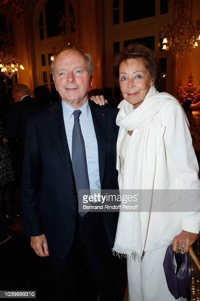 Jacques Toubon and Lise Toubon attend Societe des Amis du Musee D'Orsay Dinner at Musee d'Orsay on September 24 2018 in Paris France