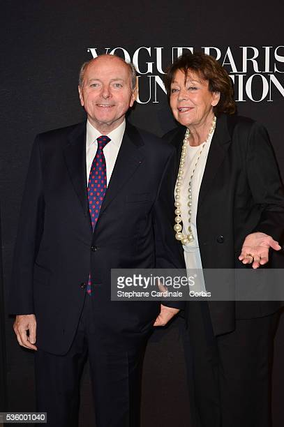 Jacques Toubon and wife Lise attends at the Foundation Gala at the Palais Galliera during the Paris Fashion Week Haute Couture Fall/Winter 20142015