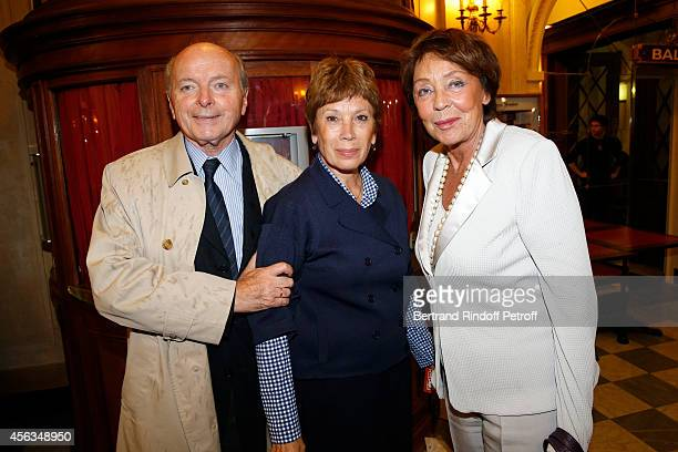 Jacques Toubon his wife Lise Toubon and Brigitte Lefevre attend the tribute to Gisele Casadesus celebrating her 100th anniversary at Theatre Edouard...