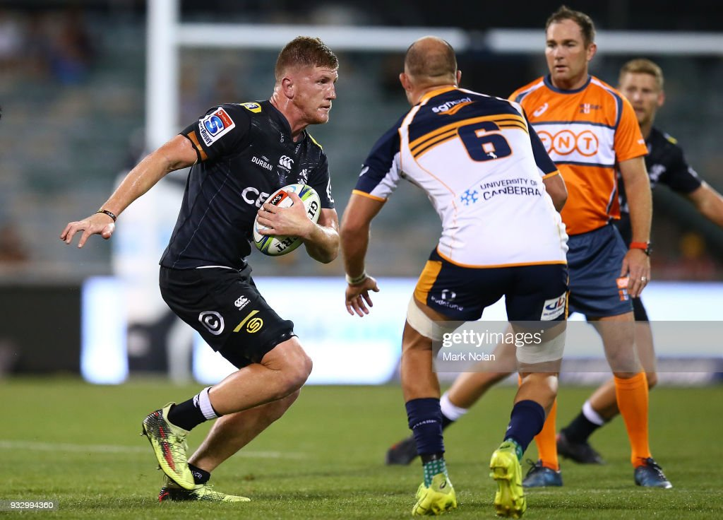 Super Rugby Rd 5 - Brumbies v Sharks : News Photo