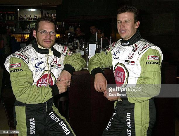 Jacques Villeneuve And Olivier Panis The Nfpcc Gala Dinner At The Hermitage Hotel In Monte Carlo