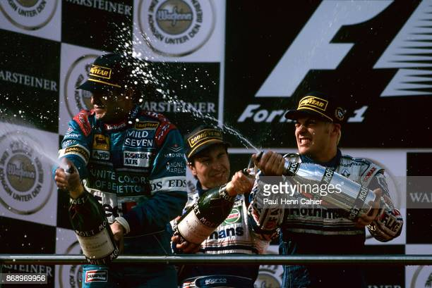 Jacques Villeneuve David Coulthard Mika Hakkinen Grand Prix of Luxembourg Nurburgring 28 September 1997