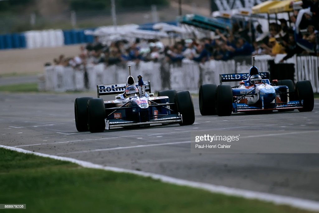 Jacques Villeneuve, Gerhard Berger, Grand Prix Of Europe : News Photo