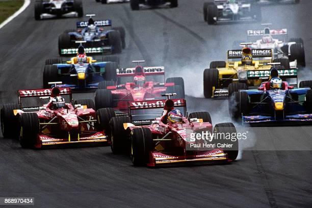 Jacques Villeneuve, Heinz-Harald Frentzen, Eddie Irvine, Jean Alesi, Williams-Mecachrome FW20, Grand Prix of Canada, Circuit Gilles Villeneuve, 07...