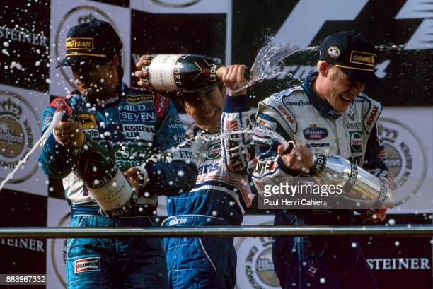 Jacques Villeneuve Jean Alesi HeinzHaraldFrentzen Grand Prix of Luxembourg Nurburgring 28 September 1997