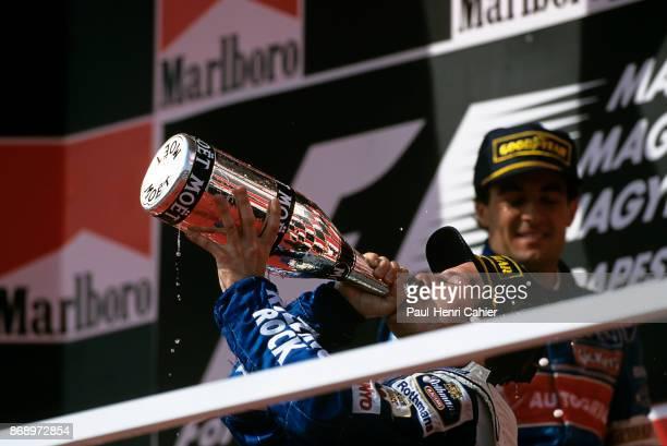 Jacques Villeneuve Jean Alesi WilliamsRenault FW18 Grand Prix of Hungary Hungaroring 11 August 1996