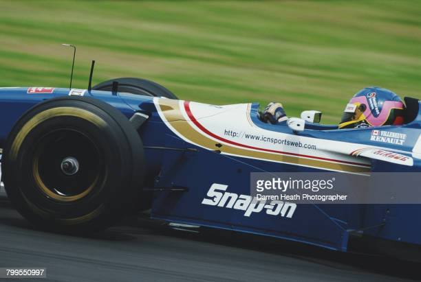 Jacques Villeneuve of Canada drives the Rothmans Williams Renault Williams FW19 Renault RS9 V10 during the Formula One British Grand Prix on 13 July...