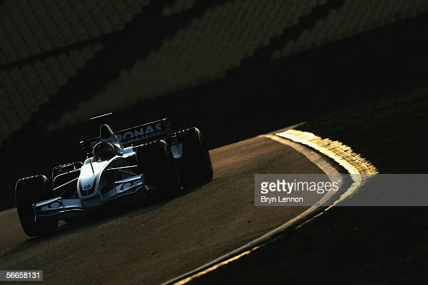 Jacques Villeneuve of Canada tests the new BMW Sauber F1.06 at the Circuito de Catalunya on January 24, in Barcelona, Spain.
