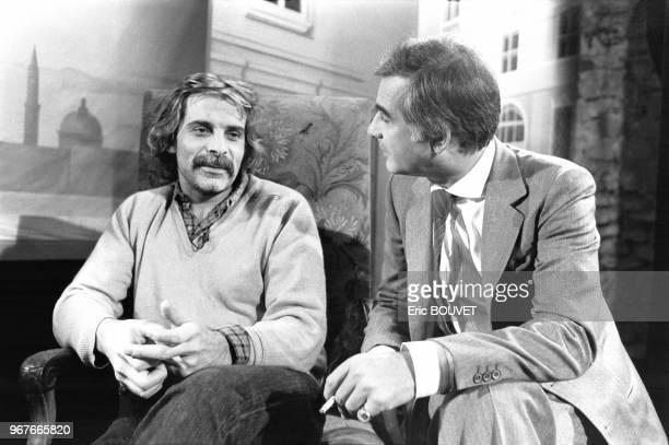 Jacques Weber et JeanClaude Brialy lors de l'émission 'La Vie de Chateau' le 16 janvier 1984