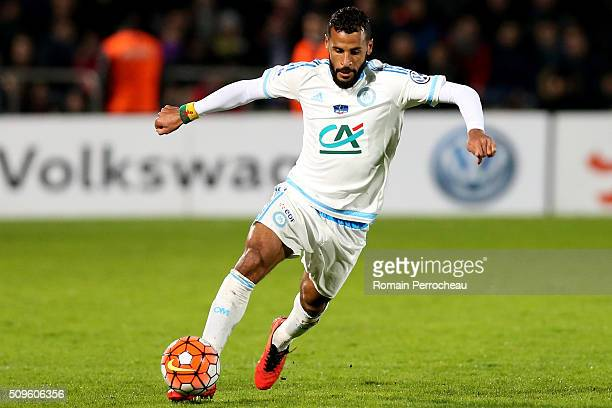 JacquesAlaixys Romao of Olympique de Marseille in action during the French Cup match between Trelissac FC and Olympique de Marseille at Stade...