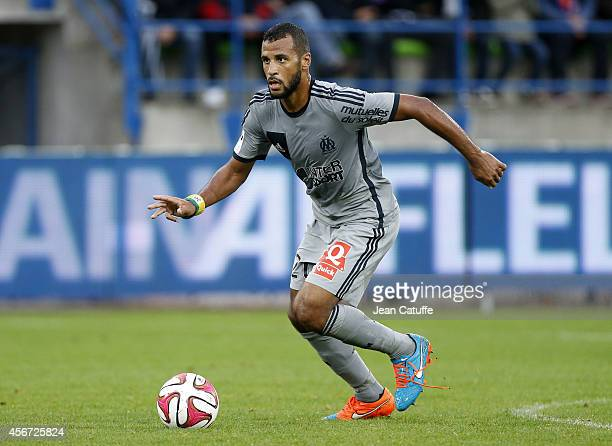 JacquesAlaixys Romao of OM in action during the French Ligue 1 match between Stade Malherbe de Caen and Olympique de Marseille at Stade Michel...